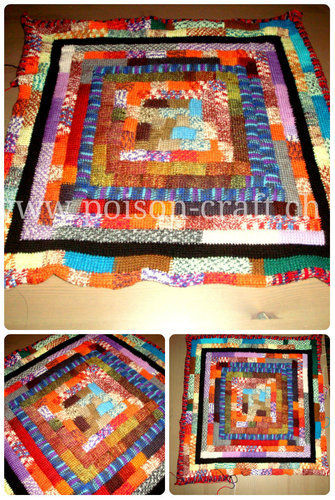 Makerist - Tuneschische Häkeldecke aus Rest Sockenwolle - Häkelprojekte - 1