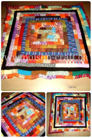 Makerist - Tuneschische Häkeldecke aus Rest Sockenwolle - 1