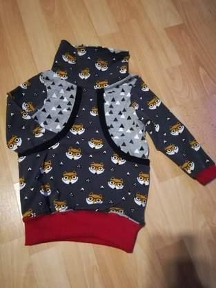 Taschenhoodie Aurelia Aurelio für meinen Sohn aus jersey