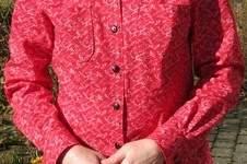 """Makerist - meine erste Bluse nach dem Kurs """"Klassische Hemdbluse selber nähen"""" von Mia Führer - 1"""