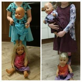 Partnerlook Puppen und Puppenmamas 😀