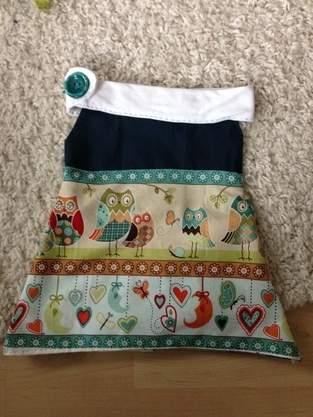 Babykleidchen mit Eulen