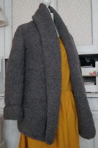Makerist - Strickjacken für Einsteiger - Cardigan mit Perlmuster stricken von Nina Schweisgut - Strickprojekte - 1