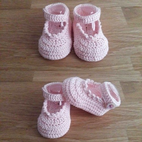Makerist - Les chaussons de Sophie - taille 0/3mois  - Créations de crochet - 1