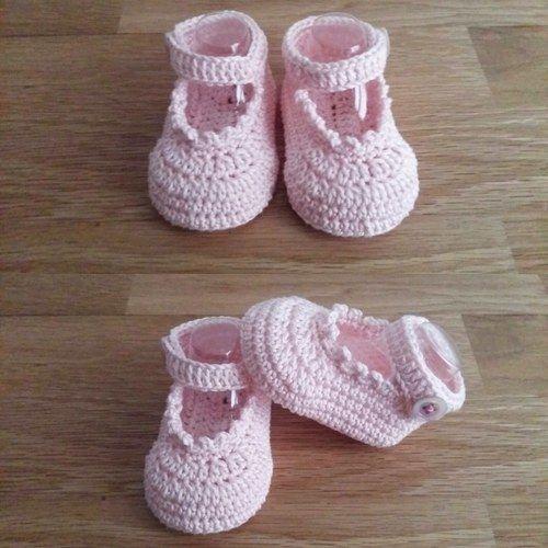 Makerist - Les chaussons de Sophie - taille 0/3mois  - Créations de crochet - 2