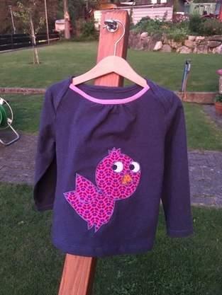 Shirt mit Vogelapplikation für meine Tochter