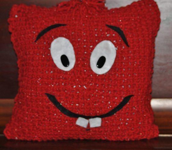 Makerist - Thommie - das hab mich lieb Kissen - Häkelprojekte - 1