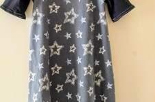 Makerist - Basic-Kleid, aus zwei verschiedenen Jersey-Stoffen, für meine Nichte, die heute 8 Jahre alt wird! Größe 134 - 1