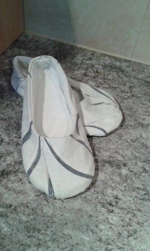 Makerist - Ballerinas Weiß-Blau - Nähprojekte - 3