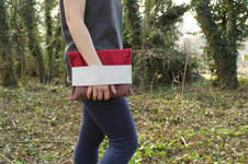 "Makerist - Clutch ""Maira"" in Naturfarben - 1"