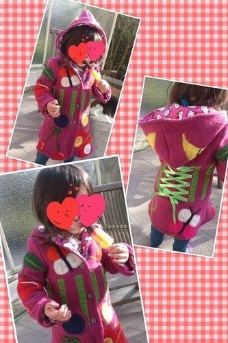 Makerist - Mäntelchen aus Walk mit gefilzten Applikationen - Nähprojekte - 1