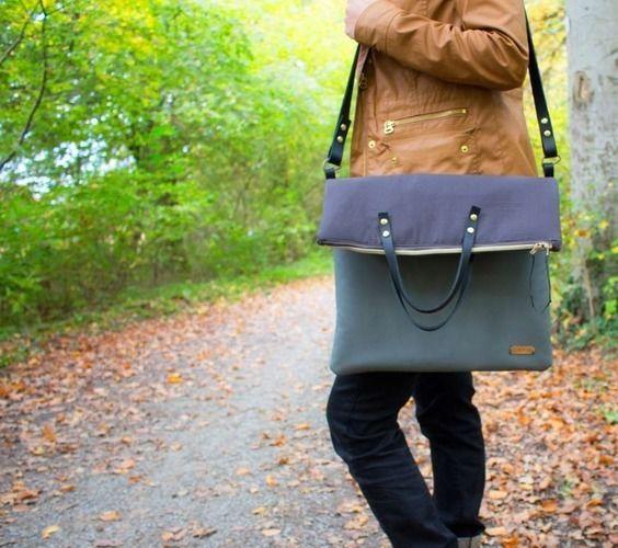 Makerist - Tasche Carry mit Lederriemen - Nähprojekte - 1