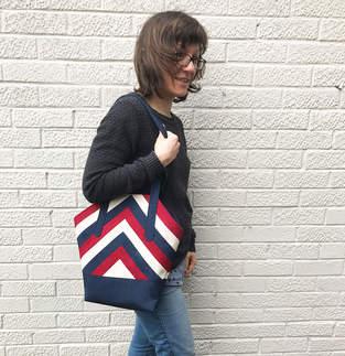 Makerist - Handtasche im Patchwork-Look - 1
