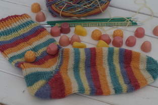 Socken mit und von Sylvie