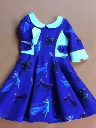 Das Kleid für Emma zur Einschulung im September.