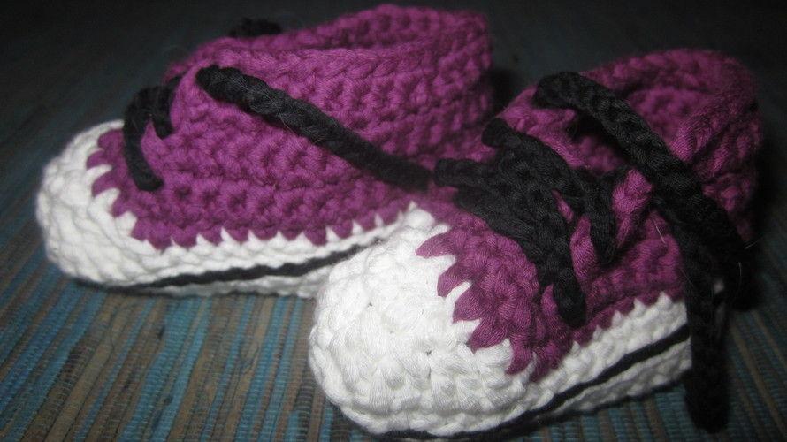 Makerist - Baby- Chucks - Häkelprojekte - 1