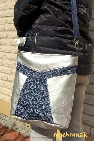 Makerist - Beuteltasche Elva von Zaubernahnna in Silber - 1