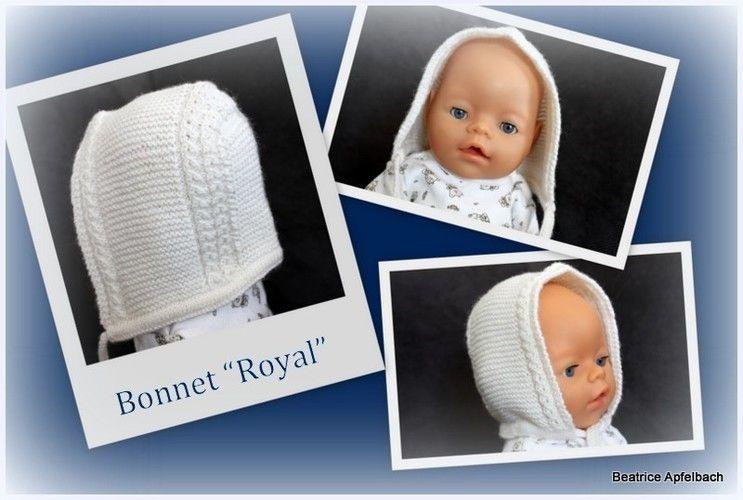 "Makerist - Bonnet ""Royal""  - Strickprojekte - 1"