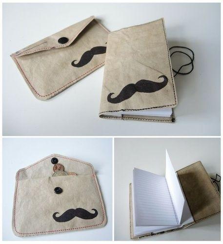 Makerist - Recycling Hipster Notizbuch & Portemonnaie  - DIY-Projekte - 1