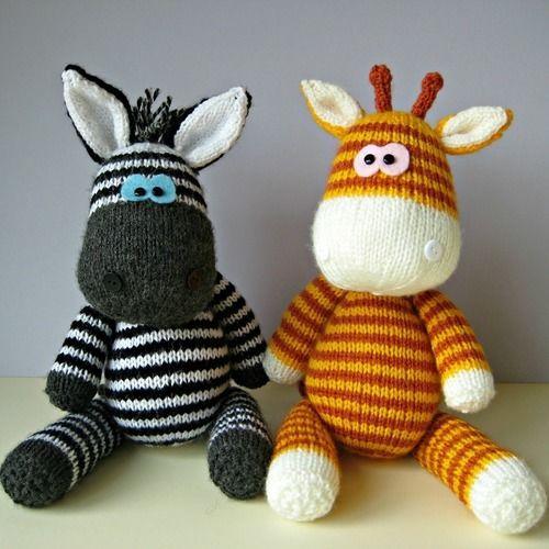 Makerist - Gerry Giraffe and Ziggy Zebra - Knitting Showcase - 1
