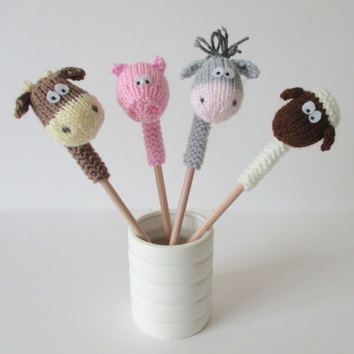 Makerist - Farmyard Pencil Toppers - Knitting Showcase - 1