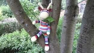 Gigi la girafe en cotton fun pour Aymeric mon petit fils