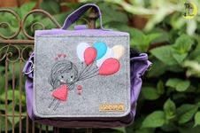 """Makerist - Kiga-Tasche """"Mädchen mit Luftballons"""" - 1"""