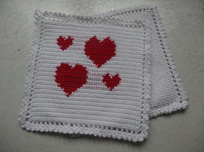 Makerist - Topflappen für Verliebte  :-) - Häkelprojekte - 1