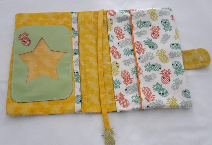 Makerist - Concours mai_protège carnet de santé ananas - Créations de couture - 2