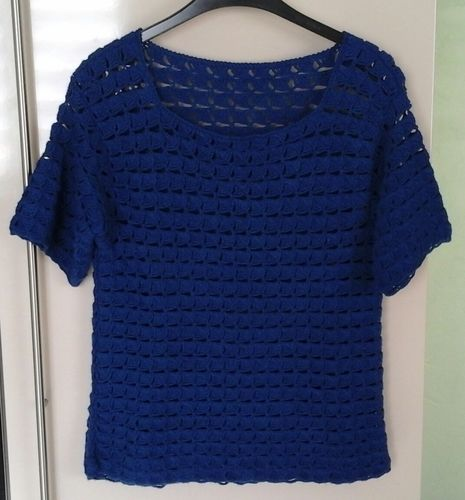 Makerist - Top d'été crocheté  en laine acrylique et elasthane - Créations de crochet - 1