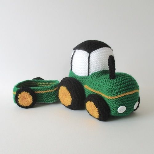 Makerist - Tractor - Knitting Showcase - 3