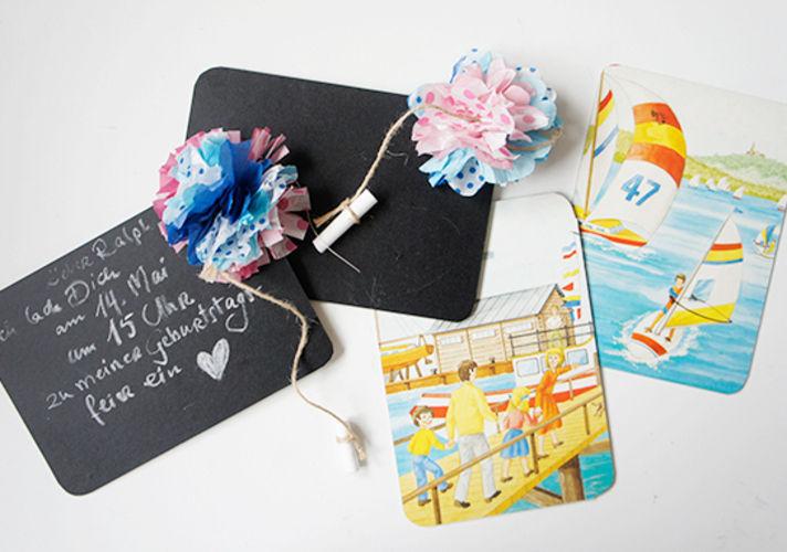 Makerist - Einladungskarten Pompom - DIY-Projekte - 2