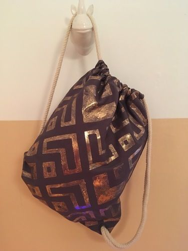 Makerist - #3 Metallfolie // Turnbeutel - Textilgestaltung - 1