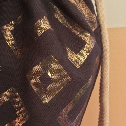 Makerist - #3 Metallfolie // Turnbeutel - Textilgestaltung - 2