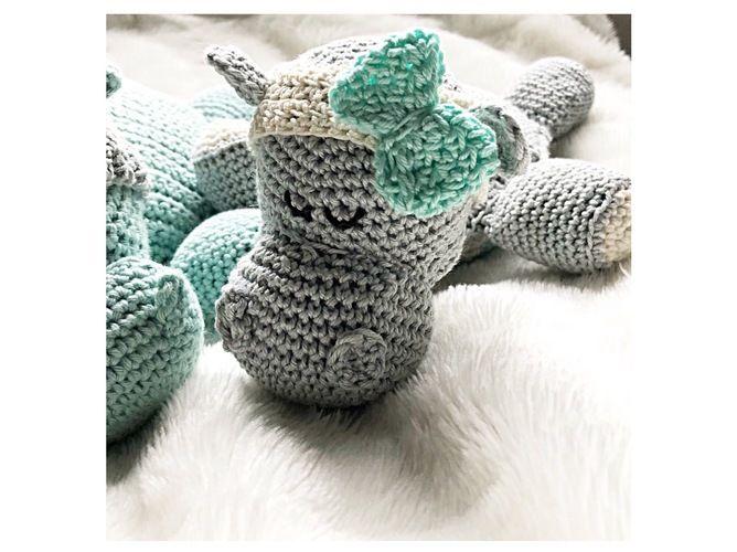 Makerist - Wärmekissenbezug Nilpferd aus Baumwollgarn  - Häkelprojekte - 2