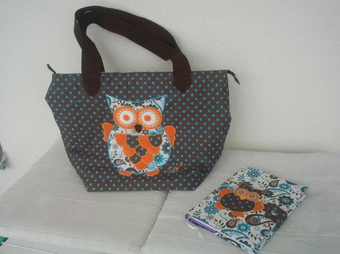 Makerist - Shopper Eule mit passendem Notizbuch - Nähprojekte - 1