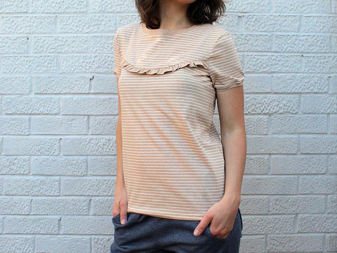 """Makerist - Shirt """"Marla"""" mit Rüschen - Nähprojekte - 1"""