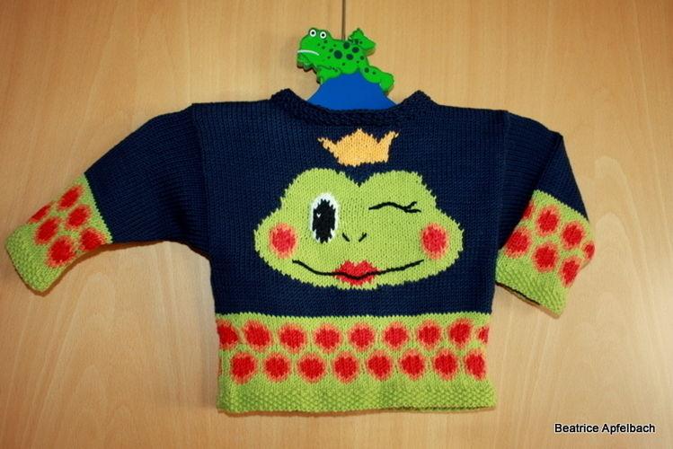 """Makerist - Babypulli """"Frosch"""" - Strickprojekte - 1"""