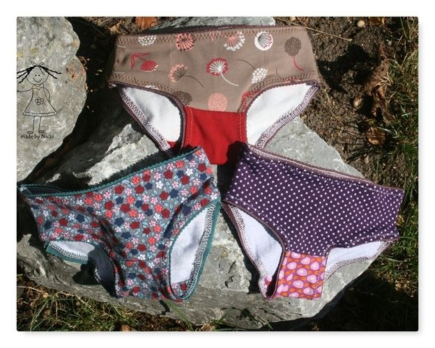 """Makerist - Slips nach dem Schnittmuster """"Unterwäsche Set für Mädchen"""" von Pattydoo - Nähprojekte - 1"""