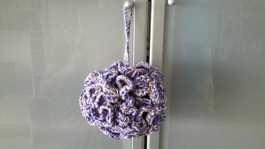 Makerist - Éponge douche lavandine - Créations de crochet - 1