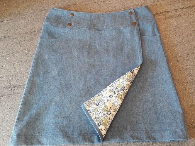 Makerist - Wickelrock aus Jeans - Nähprojekte - 1