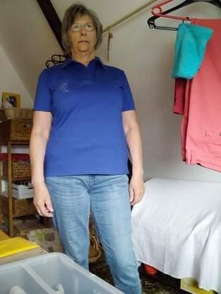 Poloshirt aus Baumwolljersy ohne Knöpfe