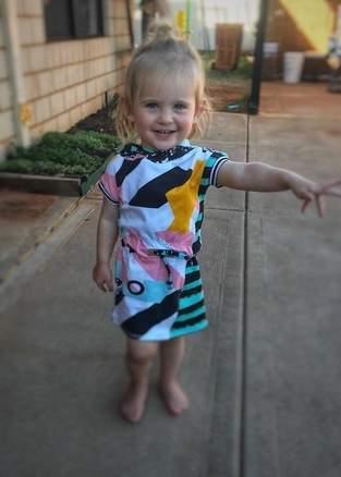 Tilt dress for my 2yr old daughter