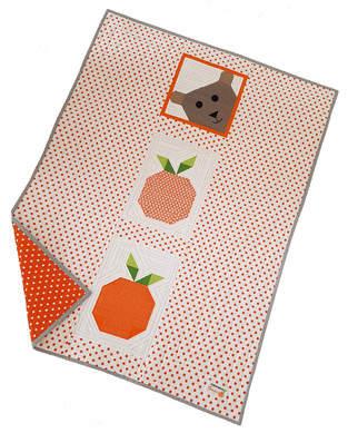 Lucky Bear & Orange Patchworkdecke für unsere Kleinen