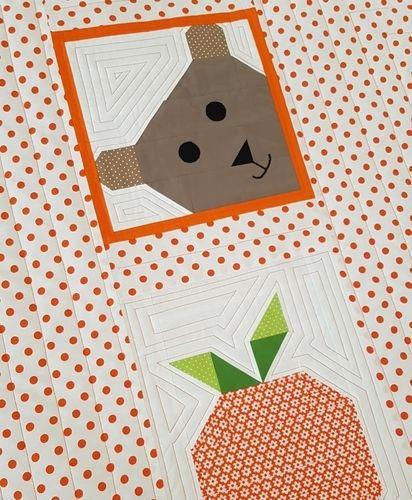 Makerist - Lucky Bear & Orange Patchworkdecke für unsere Kleinen - Patchwork-Projekte - 3