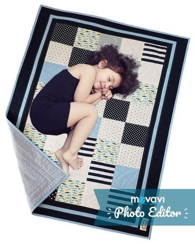 Makerist - Sunny Sea Feeling Patchworkdecke für Kinder - speziell für Geschwister oder Zwillinge - Patchwork-Projekte - 1