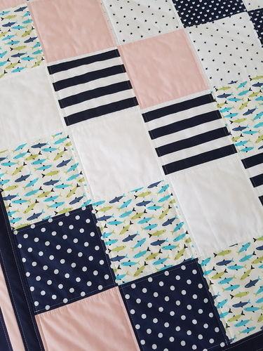 Makerist - Sunny Sea Feeling Patchworkdecke für Kinder - speziell für Geschwister oder Zwillinge - Patchwork-Projekte - 2