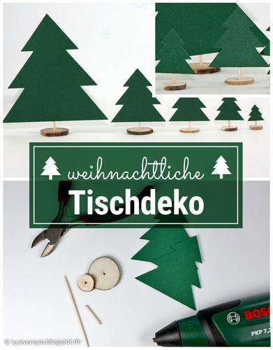 Makerist - Weihnachtliche Tischdeko mit Holzscheiben - DIY-Projekte - 1