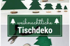 Makerist - Weihnachtliche Tischdeko mit Holzscheiben - 1