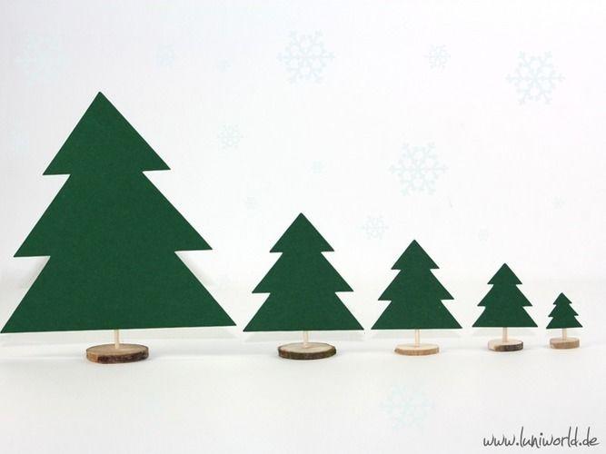 Makerist - Weihnachtliche Tischdeko mit Holzscheiben - DIY-Projekte - 2